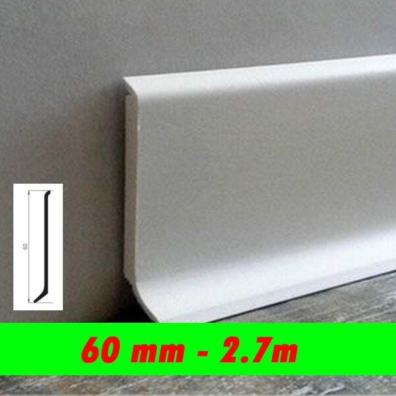 Profil finition - PLINTHE alu anodisé mat - 60mm
