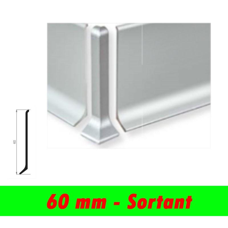 Profil finition - Angle sortant PLINTHE alu anodisé mat - 60mm