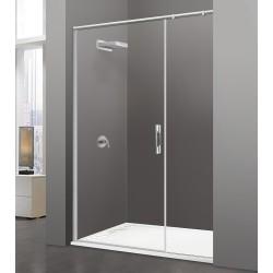Paroi de douche Transparente 1 porte 1 paroi fixe transparente 120