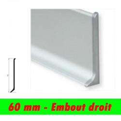 Profil finition - Embout Droit PLINTHE alu anodisé mat - 60mm
