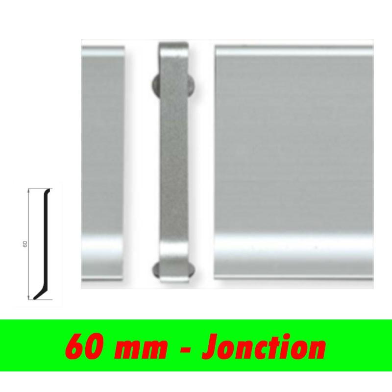 Profil finition - Jonction PLINTHE alu anodisé mat - 60mm