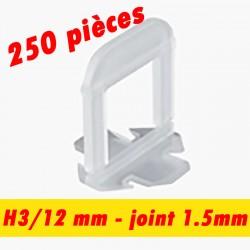 250 Croisillons auto nivelant - Joint de 1.5mm - 3/12