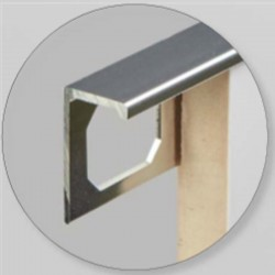 3ml - Profil finition INOX AISI 304 - Equerre - Angle droit 10mm