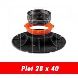 Plot réglable pour carrelage 2cm - 28 x 40