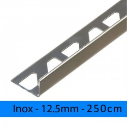 Profil finition INOX AISI 304- Equerre - Angle droit 12.5mm