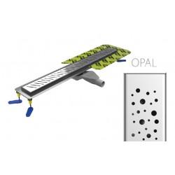 Canaline de douche Italienne grille OPAL - 80cm