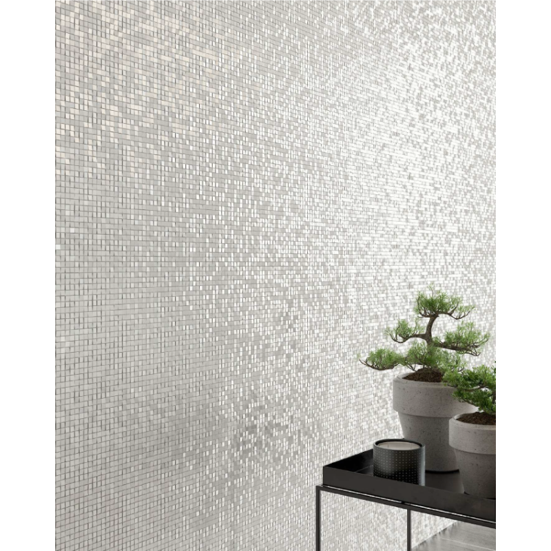 Carrelage mural Shine blanc 33x60 mosaique