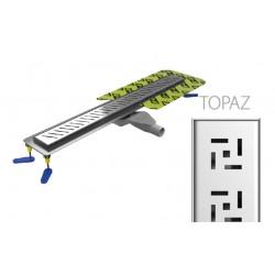 Canaline de douche Italienne grille Topaz - 80cm