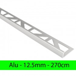 Profil finition alu ANODISE - Equerre - Angle droit 12.5mm