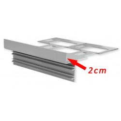 Profil finition carrelage 2cm - Alu 270cm
