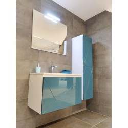Meuble de salle de bain PARIS 80cm avec colonne-miroir sphère