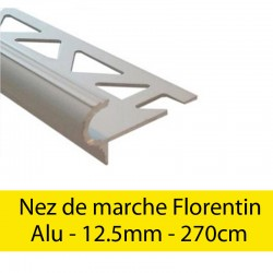 Profil finition Nez de marche - Florentin - 12.5mm