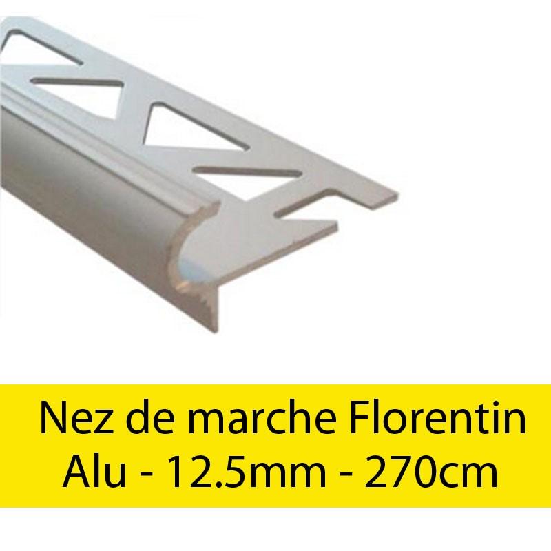 Profil finition Nez de marche - Florentin - 12.5mm