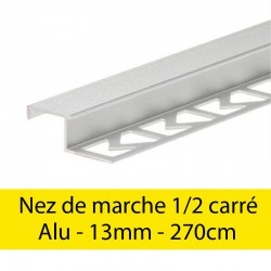 Profil finition Nez de marche - demi carré - 13mm