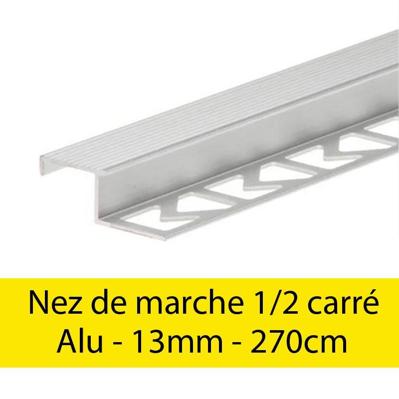 Profil finition Nez de marche - demi carré - 13mm