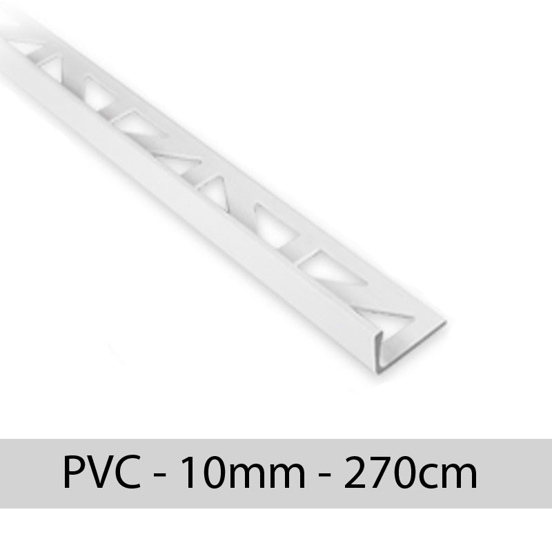 Profil finition PVC - EQUERRE - Angle droit 10mm