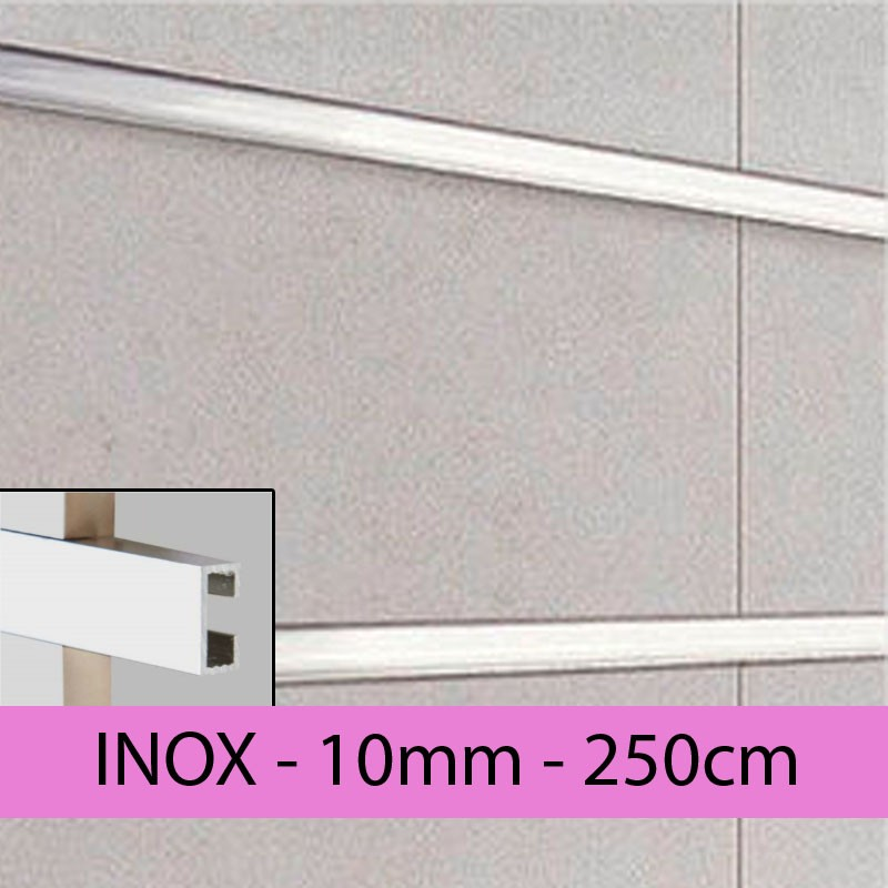 Profil finition INOX - LISTEL - 10mm