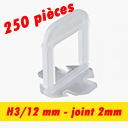 250 Croisillons auto nivelant - Joint de 2mm - 3/12