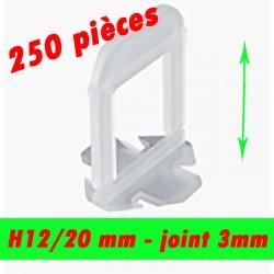 250 Croisillons auto nivelant HAUT - Joint de 3mm - 12/20